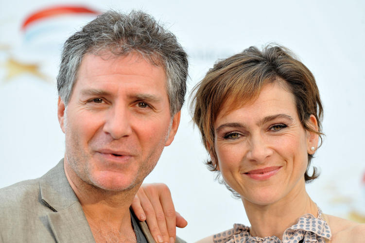 Laurent Olmedo and Aurelie Bargeme at the photocall of