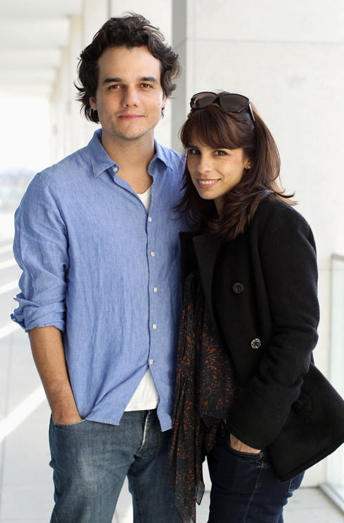 Wagner Moura and Maria Ribeiro at the portrait session of