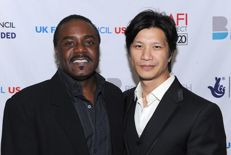 Reginald T. Dorsey and Dustin Nguyen at the Breakthrough Brits Gala Reception.