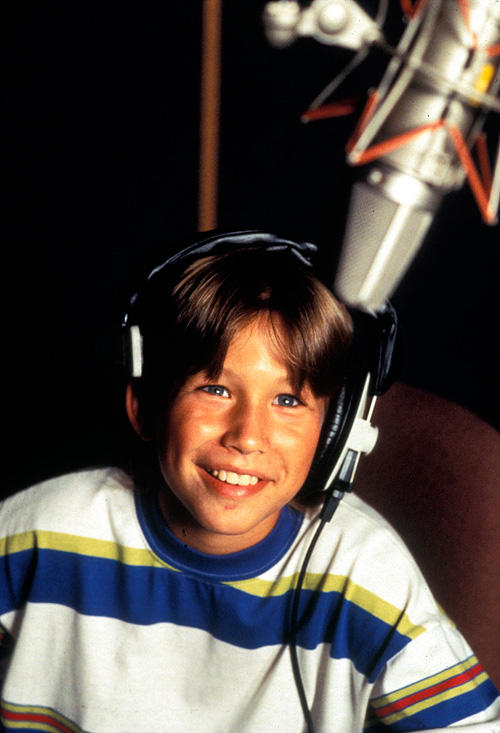 Jonathan Taylor Thomas on the set of