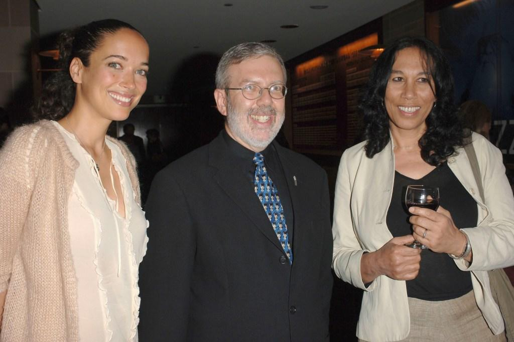 Carmen Chaplin, Leonard Maltin and Patricia Chaplin at the Los Angeles Chamber Orchestra's 16th Annual Silent Film Gala screening of