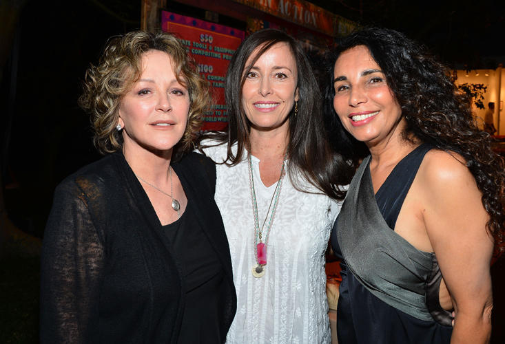Bonnie Bedelia, Caroleen Feeney and Shanit Schwartz at the GiveLove 2nd Annual Art Auction and Fundraiser for Haiti with Patricia Arquette & Rosetta Getty.