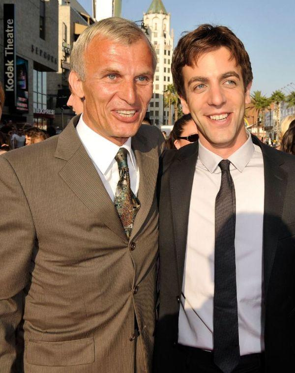 Richard Sammel and B.J. Novak at the premiere of