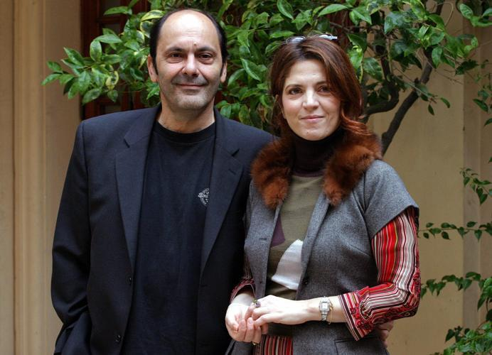 Jean-Pierre Bacri and Agnes Jaoui at the presentation of