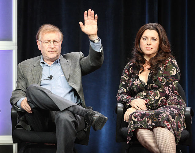 Steve Landesberg and Michelle Arthur at the Starz Network portion of the 2009 Winter Television Critics Association Press Tour.