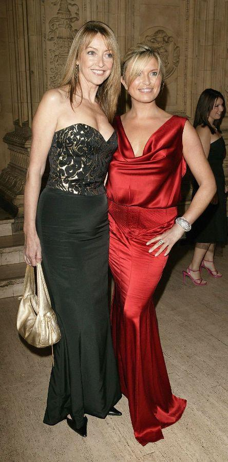 Sharon Maughan and Tina Hobley at the 10th Anniversary National Television Awards.