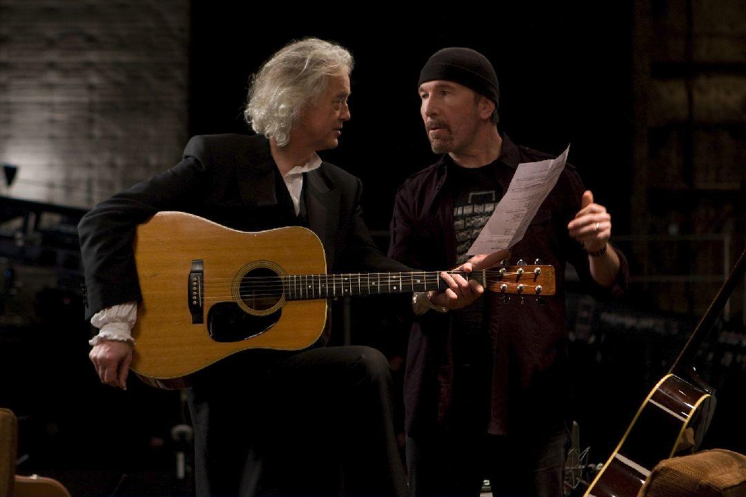 Jimmy Page and The Edge in