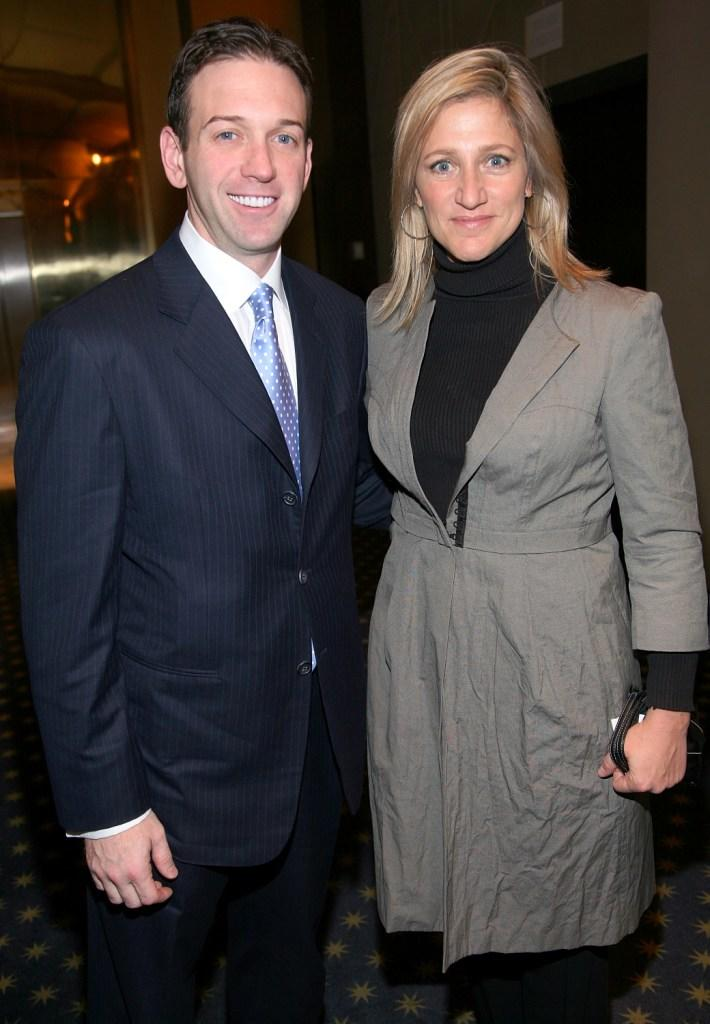Edie Falco and Andrew Borrok at a private screening of
