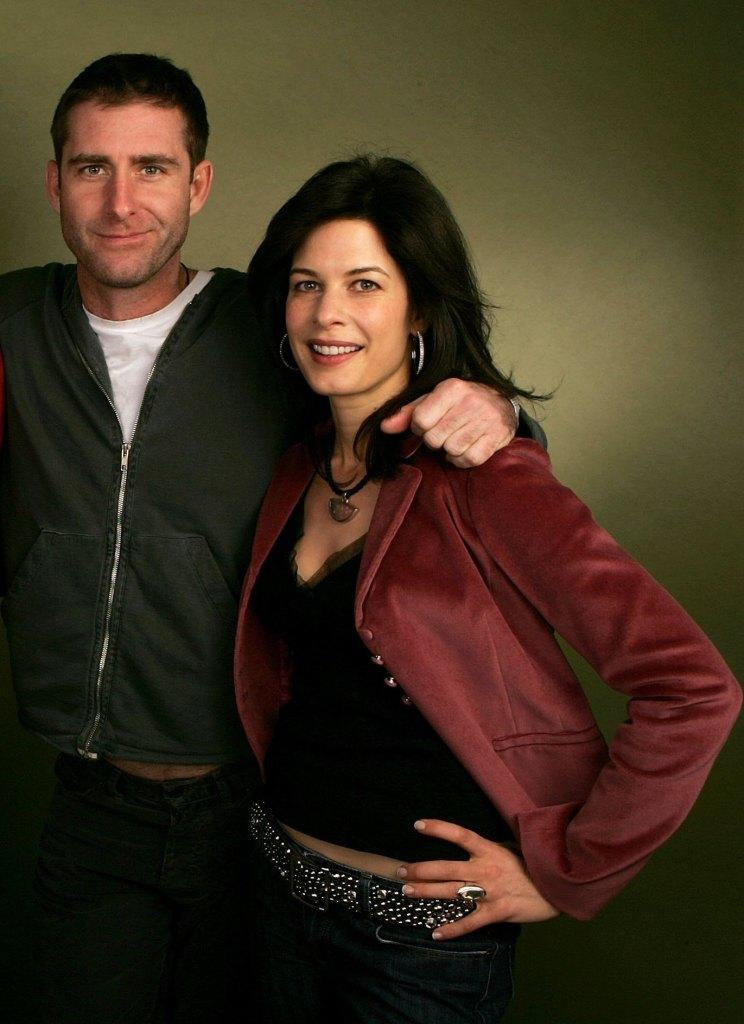 Paul Fitzgerald and Susan Floyd at the Getty Images Portrait Studio during the 2006 Sundance Film Festival.