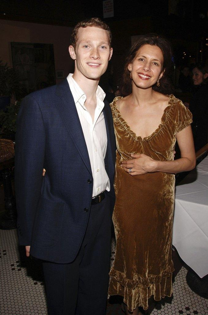 Dan Bittner and Jessica Hecht at the Lincoln Center Theater opening night celebration of