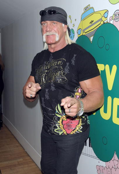 Hulk Hogan at the MTV's Total Request Live.
