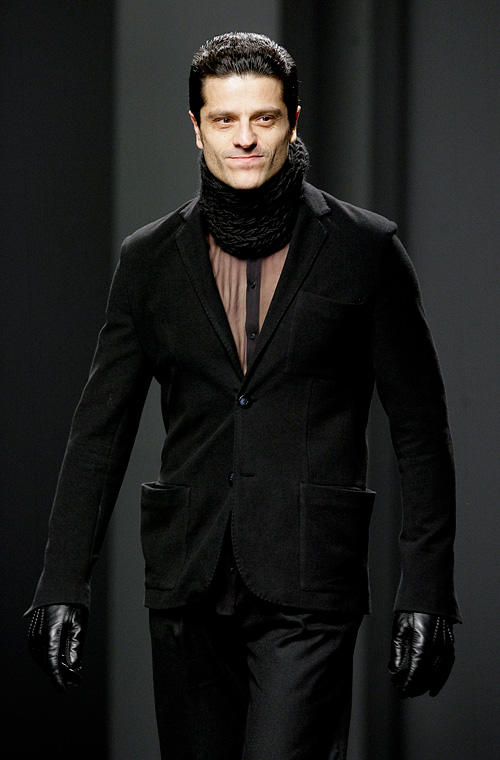 Joel Joan at the 080 Barcelona Fashion week in Barcelona.