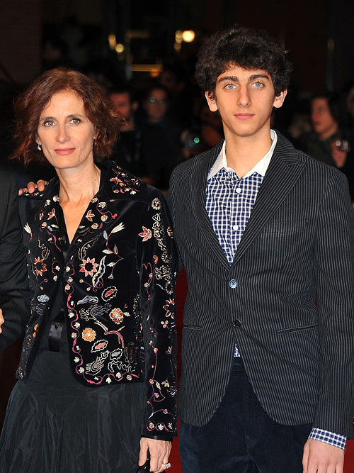 Margaret Mazzantini and Pietro Castellitto at the premiere of
