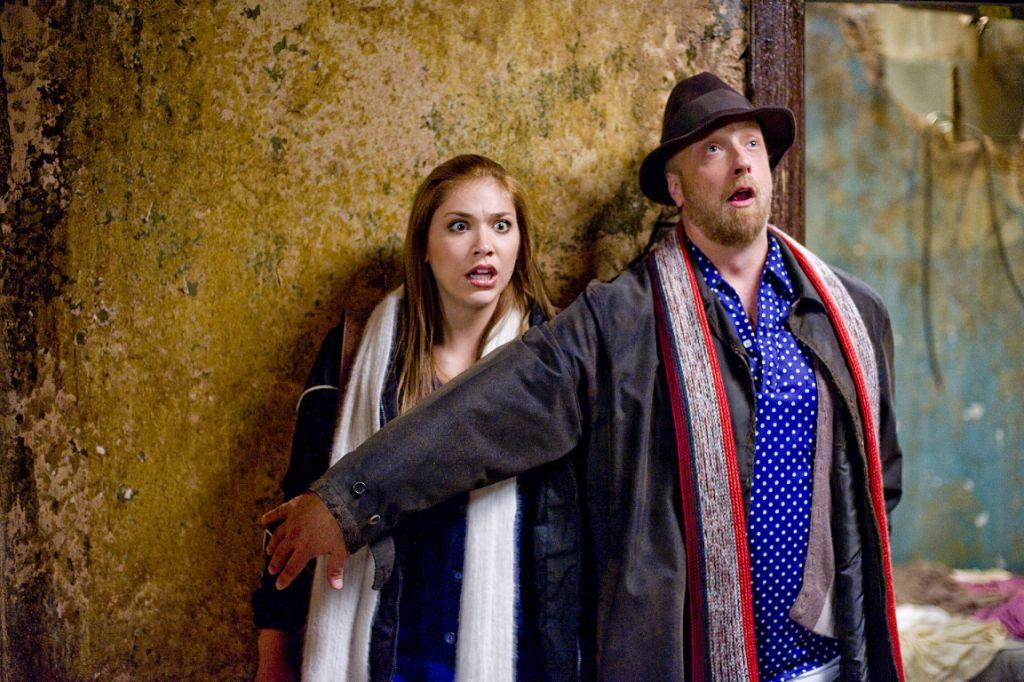 Shoshana Bush as Megan and Chris Elliott as Ron in