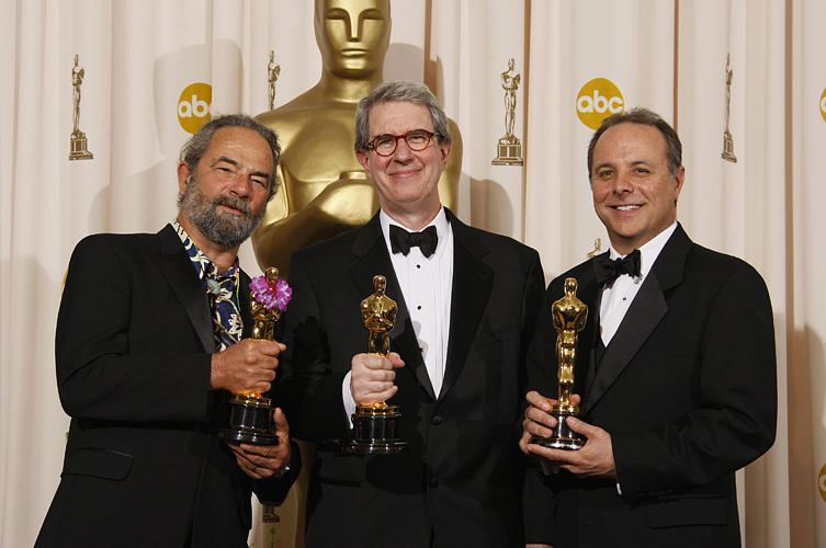 Kirk Francis, David Parker and Scott Millan at the 80th Annual Academy Awards.