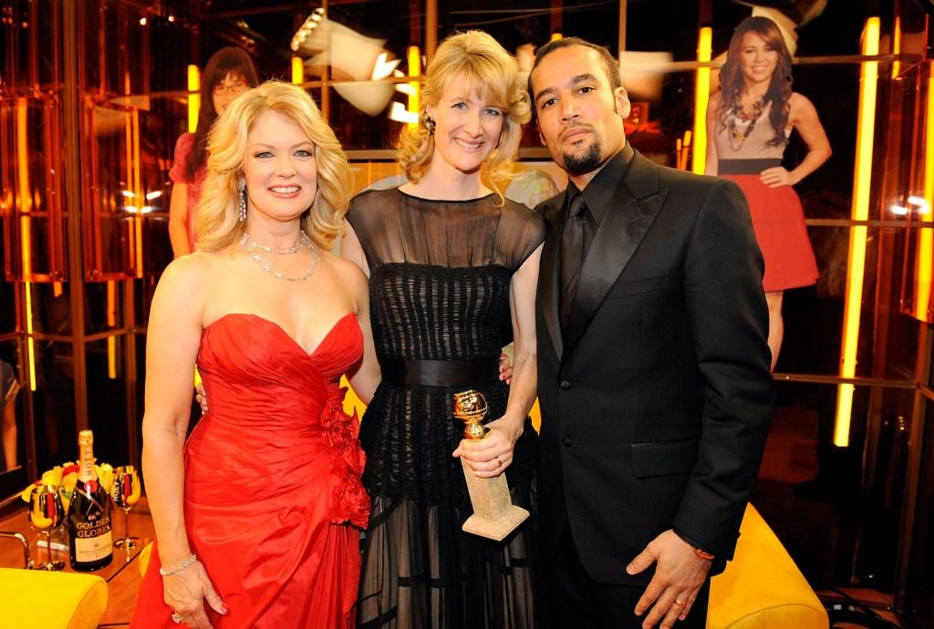 Mary Hart, Laura Dern and Ben Harper at the 66th Annual Golden Globe Awards.