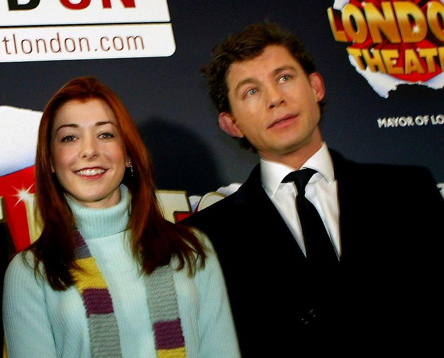 Alyson Hannigan and Lee Evans at the photocall of