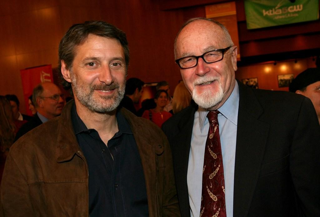 Antoine de Caunes and Gil Cates at the opening night reception during the 11th Annual City Of Lights, City Of Angels French Film Festival.