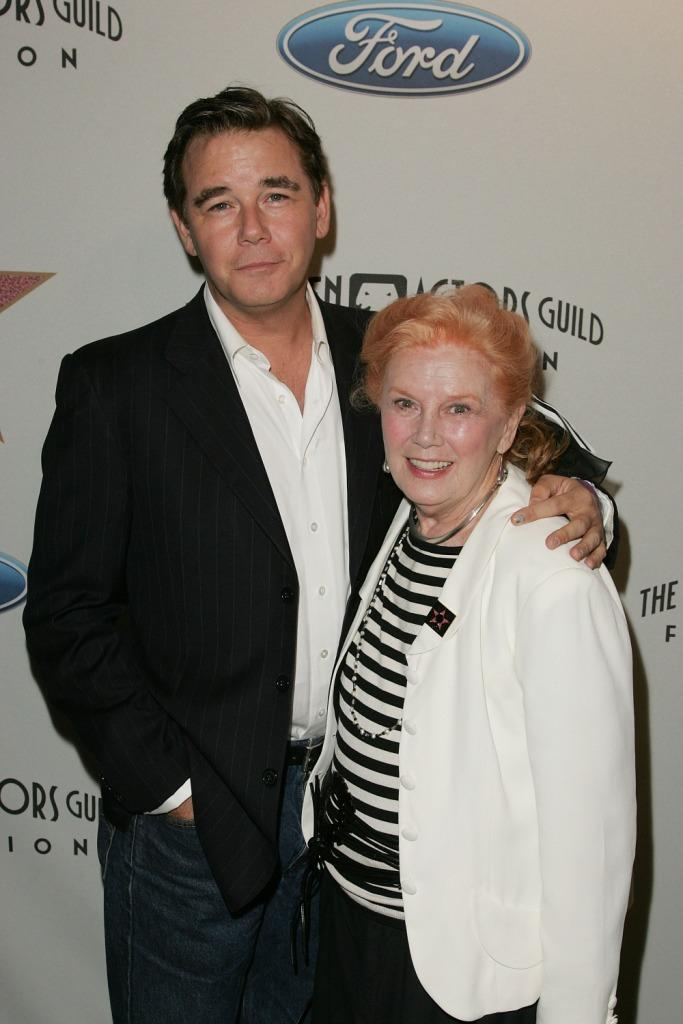 Spencer Garrett and Kathleen Nolan at the Award of Excellence Star presentation of the Screen Actors Guild.
