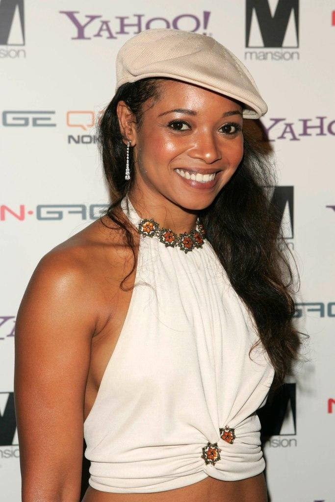 Tamala Jones at the party of photographer David LaChapelle.