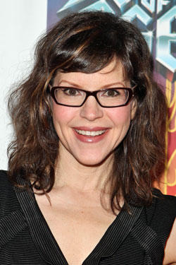 Singer Lisa Loeb arrives at the Opening Night of 'Rock of Ages' at the Pantages Theatre.