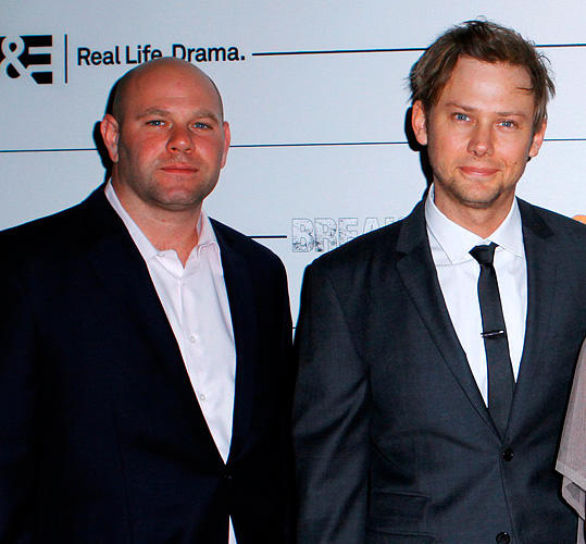 Domenick Lombardozzi and Jimmi Simpson at the New York premiere of