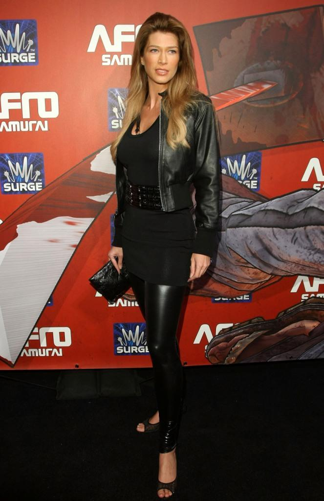 Amber Smith at the Afro Samurai Video Game Launch party.