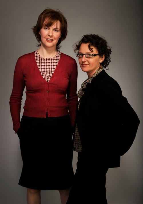 Aisling O'Sullivan and director Carmel Winter at the portrait studio during the Tribeca Film Festival 2010 in New York City.
