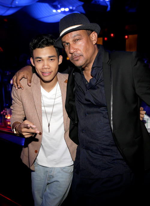 Singer Roshon Fegan and Roy Fegan at the afterparty of Buffalo David Bitton/Billboard Awards.