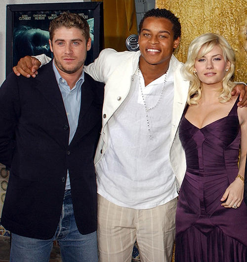 Jon Abrahams, Robert Ri'chard and Elisha Cuthbert at the California premiere of