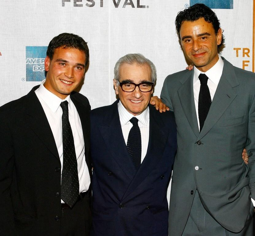 Francisco Casa, Director Martin Scorsese and Vincenzo Amato at the premiere of