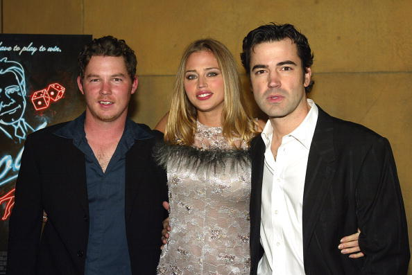 Shawn Hatosy, Estella Warren and Ron Livingston at the premiere of