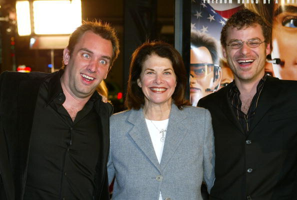 Trey Parker, Sherry Lansing and Producer Matt Stone at the Los Angeles premiere of