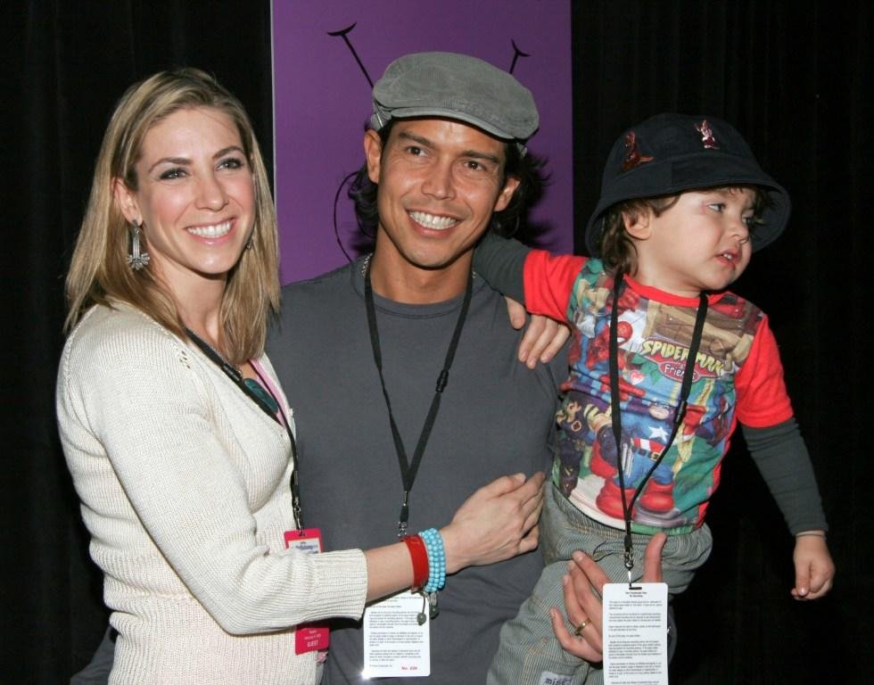 Ivonne Jung, Anthony Ruivivar and their Son Kainoa at the premiere of