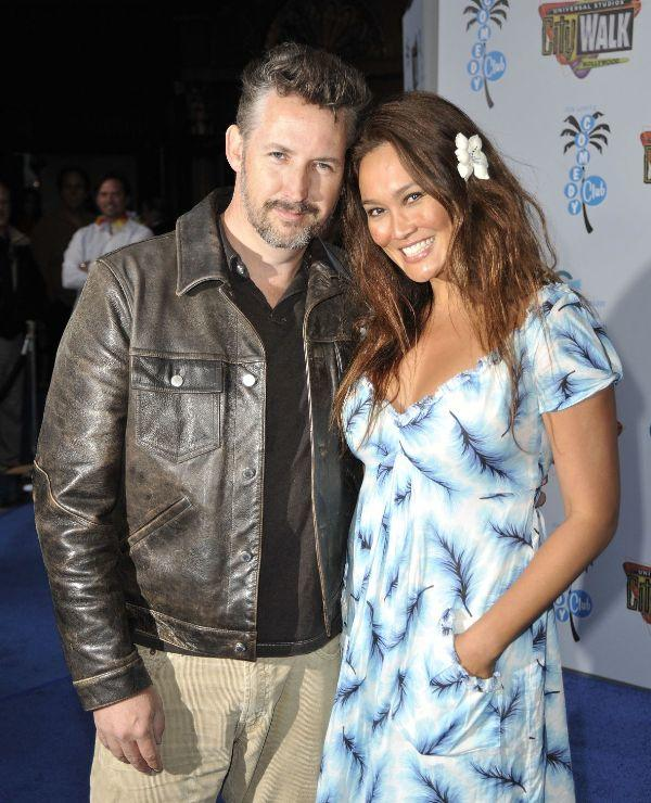 Harland Williams and Tia Carrere at the opening night of the Jon Lovitz Comedy Club benefiting the Ovarian Cancer Research Fund.