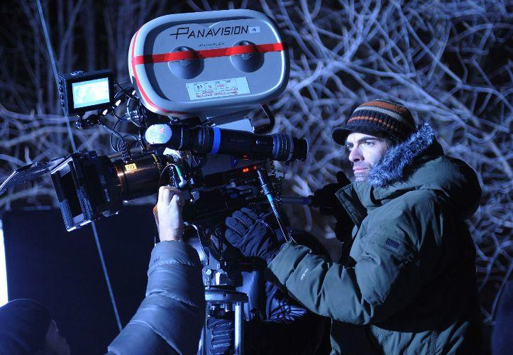 Director Vincenzo Natali on the set of