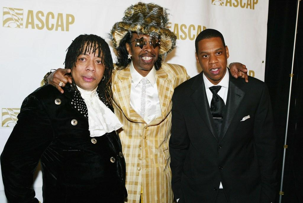Rick James, Bootsy Collins and Jay-Z at the ASCAP's 17th Annual Rhythm & Soul Music Awards.
