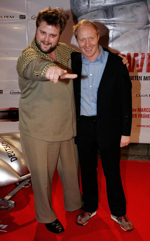 Antoine Monot and Simon Schwarz at the Germany premiere of