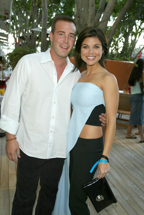 Richard R. Ruccolo and Tiffani Thiessen at the Fox Network's TCA Summer Tour party in California.