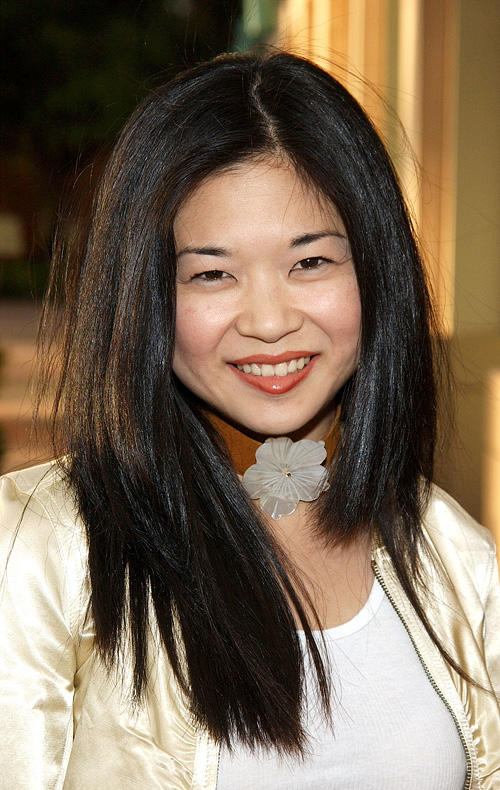 Keiko Agena at the behind the scenes discussion of the television show