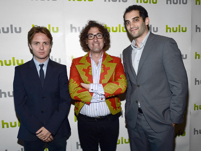 Dana O'Keefe, Timothy (Speed) Levitch and producer Alex Lipschultz at the 2012 TCA Summer Press Tour.
