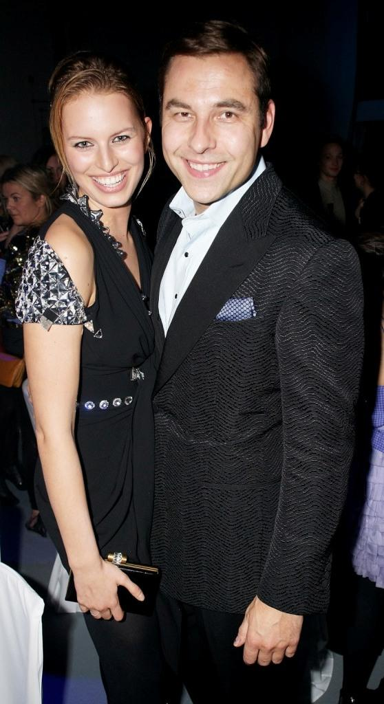 Karolina Kurkova and David Walliams at the after party of Elle Style Awards 2009.