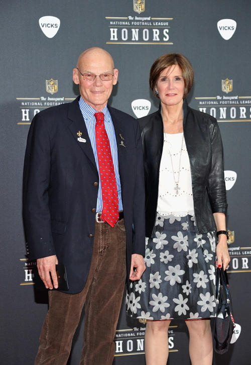 James Carville and Mary Matalin at the NFL Honors and Pepsi Rookie of The Year in Indiana.