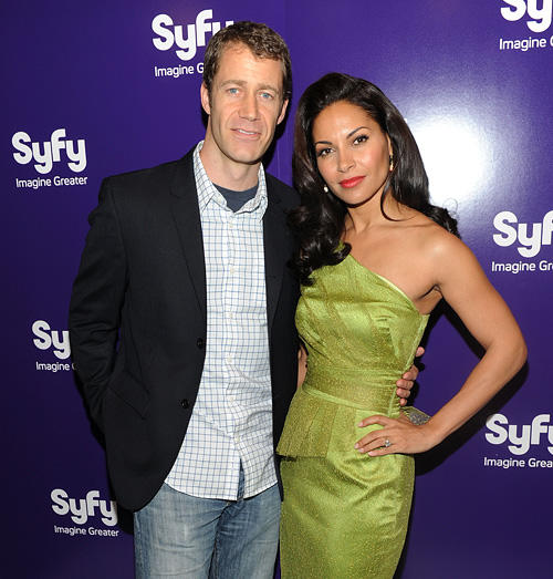 Colin Ferguson and Salli Richardson-Whitfield at the 2010 Syfy Upfront party in New York.