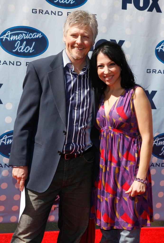 Dave Foley and wife Crissy Guerrero at the American Idol Season 6 Finale.
