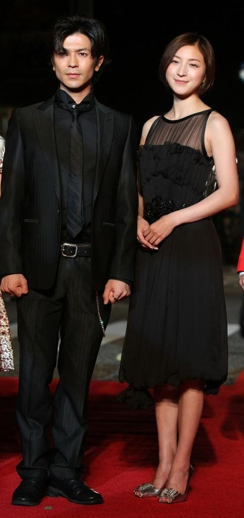 Shinji Takeda and Ryoko Hirosue at the 20th Tokyo International Film Festival (TIFF).