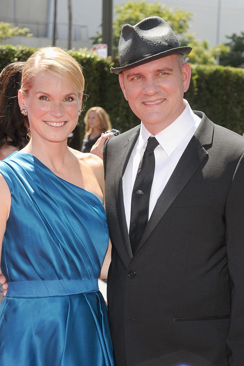 Lisa O'Malley and Mike O'Malley at the 62nd Primetime Creative Arts Emmy Awards in California.