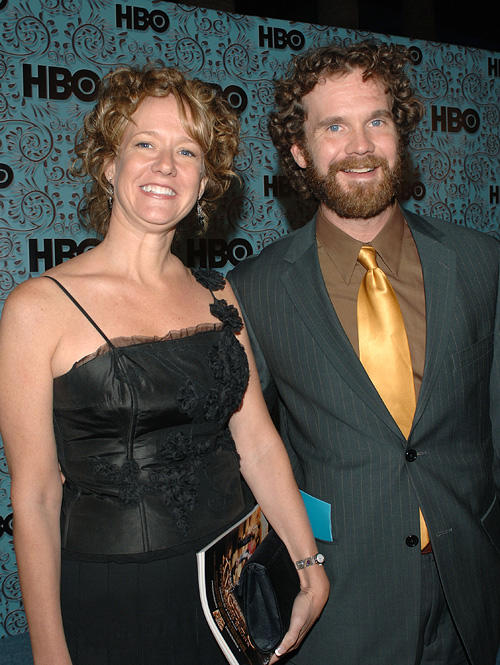 Sean Bridgers and Guest at the HBO Emmy after party in California.