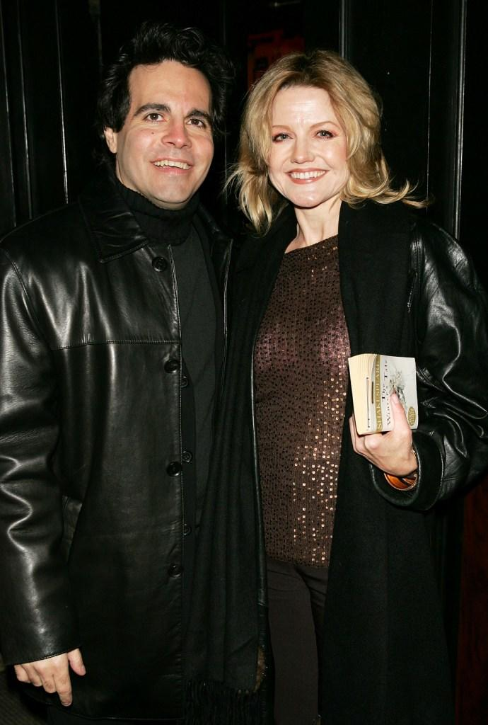 Mario Cantone and Alison Fraser at the after party of