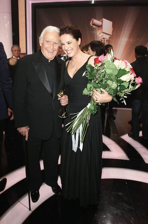 Joachim Fuchsberger and Desiree Nosbusch at the Goldene Kamera 2010 Awards.